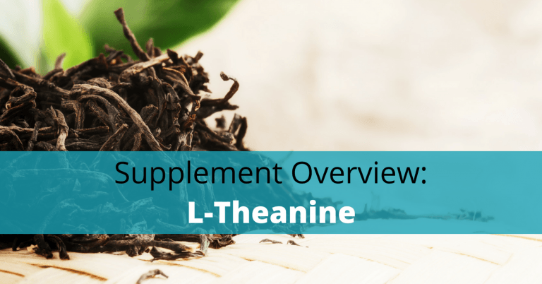 L-theanine is found in black and green teas